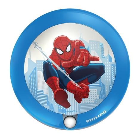 Philips 71765/40/16 - Gyermek tájékoztató LED lámpa DISNEY SPIDER-MAN 1xLED/0,06W/3V