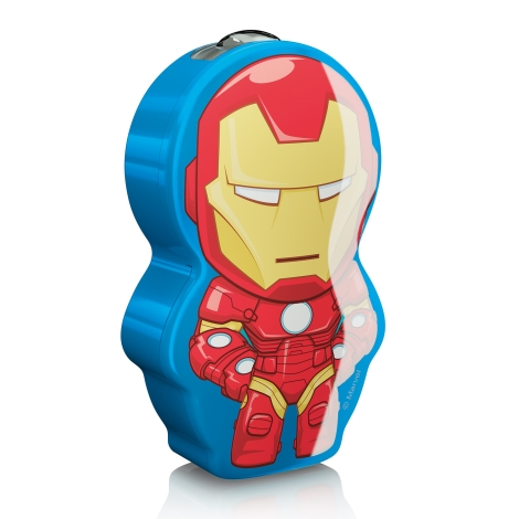 Philips 71767/35/16 - Gyereklámpa DISNEY IRON MAN LED/0,3W/2xAAA
