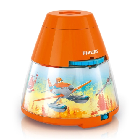 Philips 71769/53/16 - LED gyermek lámpa PLANES 1xLED/0,1W + 3xLED/0,3W/3xAA vetíttőgép