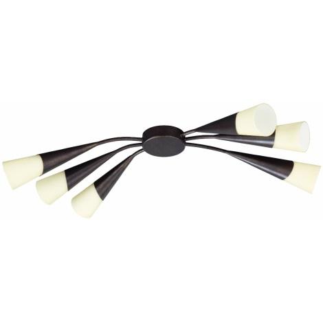 Philips Eseo 37846/43/13 - STREAM csillár 6xE14/40W barna