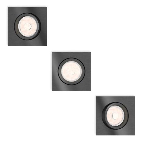 Philips - Készlet 3 x LED  beépíthető lámpa 3xGU10/5,5W/230V