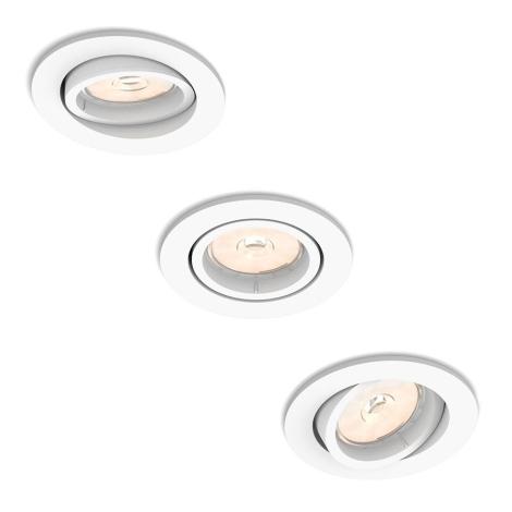 Philips - Készlet 3x Beépíthető lámpa 3xGU10/5,5W/230V