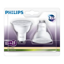 Philips LED-es izzó 2 db-os szett GU10/3,5W/230V