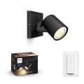 Philips - LED Szabályozható lámpa 1xGU10/5W/230V + távirányító