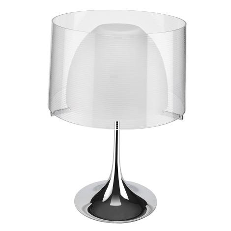 Philips Lirio 36904/11/LI - TULMIS asztali alkony lámpa 1xE27/105W króm / fehér