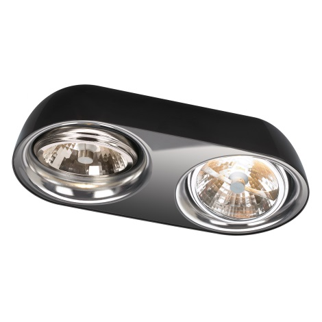 Philips Lirio 57132/30/LI - DOLOQ mennyezeti lámpa 2xG53/35W fekete