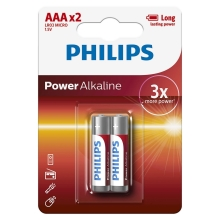 Philips LR03P2B/10 - 2 db alkáli elem AAA POWER ALKALINE 1,5V