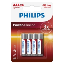 Philips LR03P4B/10 - 4 db alkáli elem AAA POWER ALKALINE 1,5V