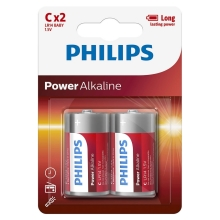Philips LR14P2B/10 - 2 db alkáli elem C POWER ALKALINE 1,5V