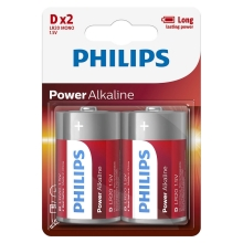 Philips LR20P2B/10 - 2 db alkáli elem D POWER ALKALINE 1,5V