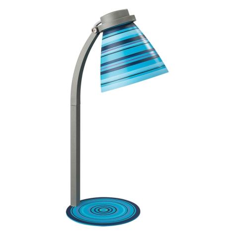 Philips Massive 12923/01/35 - Asztali lámpa 1xE14/40W modrá