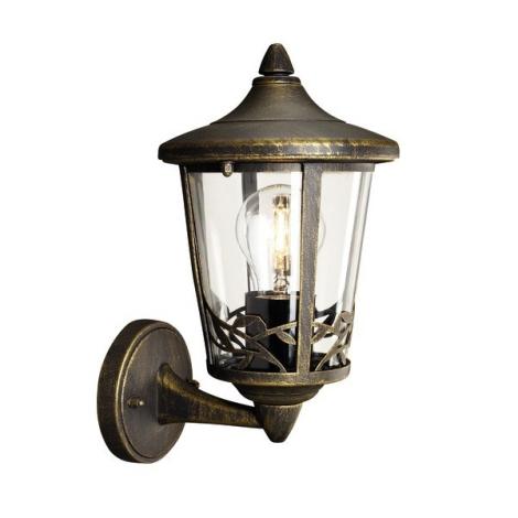 Philips Massive 15390/42/10 - CHARTRES fali lámpa 1xE27/60W patinás barna