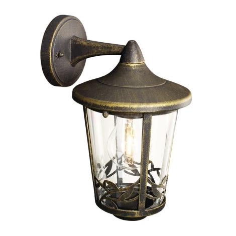 Philips Massive 15391/42/10 - CHARTRES fali lámpa 1xE27/60W patinás barna