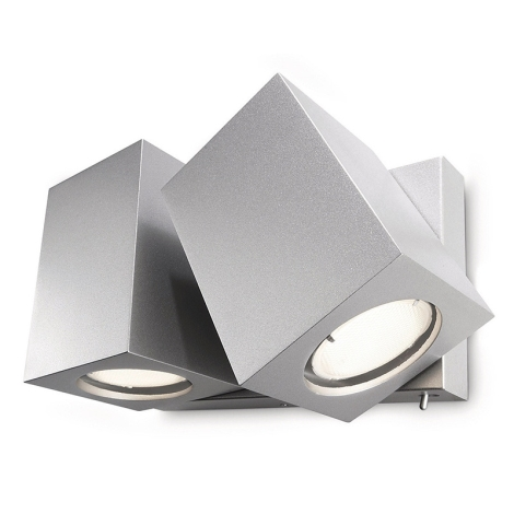 Philips Massive 33219/48/10 - TARA spotlámpa 2xGU10/10W alumínium