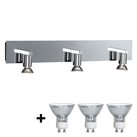 Philips Massive 34027/11/10 - Fürdőszobai fali lámpa HORIZON 3xGU10/50W/230V