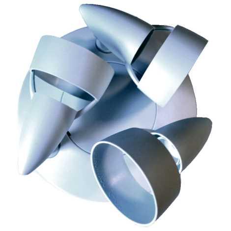Philips Massive 345774 - PLAFOND spotlámpa 3xE14/40W műanyag fehér