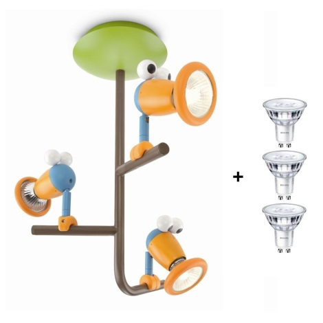Philips Massive 56313/55/10 - BIRDEY gyerek mennyezeti lámpa 3xGU10/50W