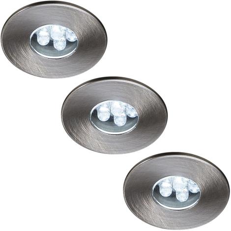 Philips Massive 59023/17/10 - ATTIKI beépíthető LED-es spotlámpa 3 db-os szett 3xLED/0,36W/12V