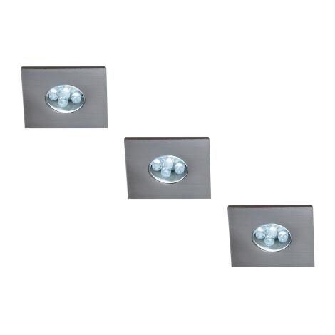 Philips Massive 59028/17/10 - MONTICELLO LED-es beépíthető lámpa 3 db-os szett 3xLED/0,36W/11V