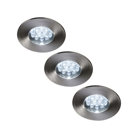 Philips Massive 59033/17/10 - PRETORIA LED-es beépíthető lámpa 3 db-os szett 3xLED/0,96W/9V