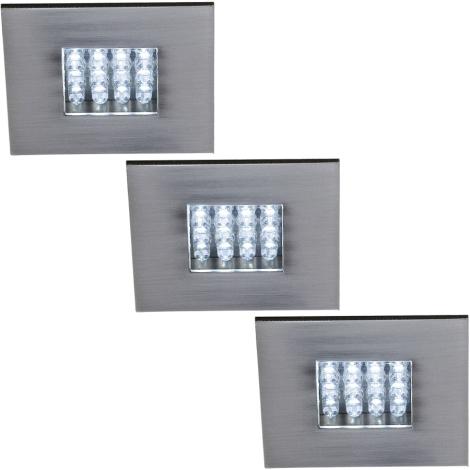 Philips Massive 59038/17/10 - NOVARA LED beépíthető lámpa 3 db-os szett 3xLED/0,96W/9V