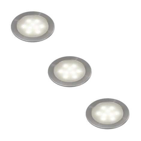 Philips Massive 59283/17/10 - ARNO LED-es beépíthető lámpa 3 db-os szett 3xLED/0,5W