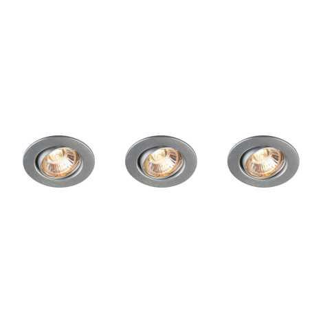 Philips Massive 59463/48/10 - KÉSZLET 3x Fürdőszobai mennyezeti lámpa MANGO 1xGU10/35W/230V