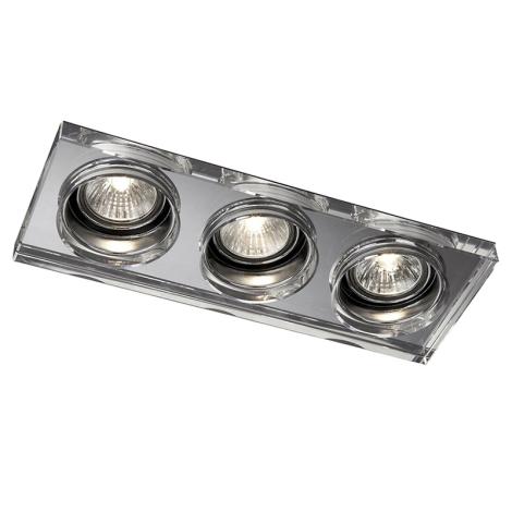Philips Massive 59563/11/10 - LED fürdőszobai süllyesztett lámpa SAPPHIRE 3xLED/10W