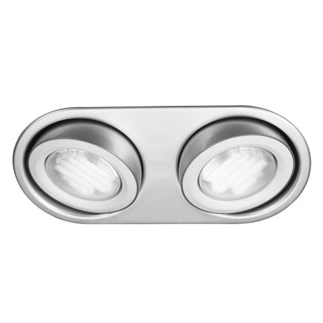 Philips Massive 59602/48/10 - Fürdőszobai mennyezeti lámpa MONO 2xGX53/9W/230V alumínium