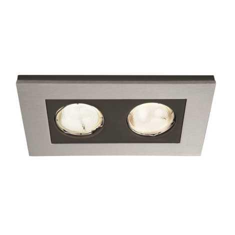 Philips Massive 59652/48/10 - Fürdőszobai mennyezeti lámpa HEKA 2xGU10/10W/230V alumínium