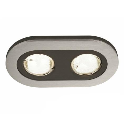 Philips Massive 59657/48/10 - Fürdőszobai mennyezeti lámpa HEZE 2xGU10/10W/230V alumínium