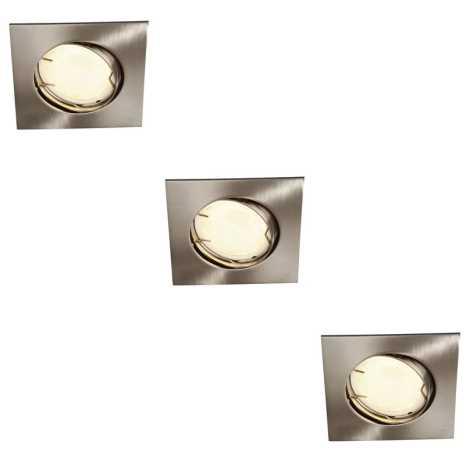 Philips Massive 59733/17/10 - KÉSZLET 3x Fürdőszobai mennyezeti lámpa ZARO 3xGU10/10W/230V