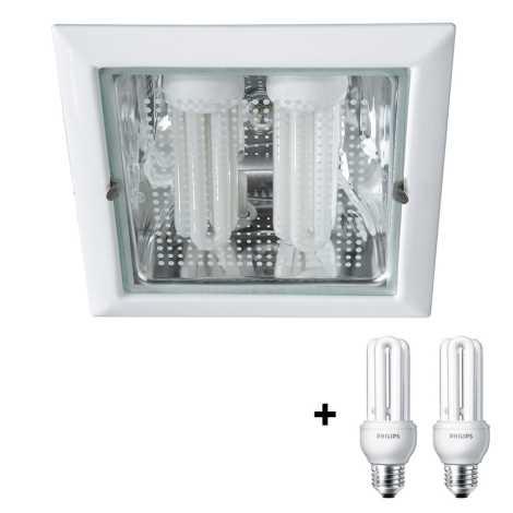 Philips Massive 59796/31/10 - VETA beépíthető lámpa 2xE27/14W fehér