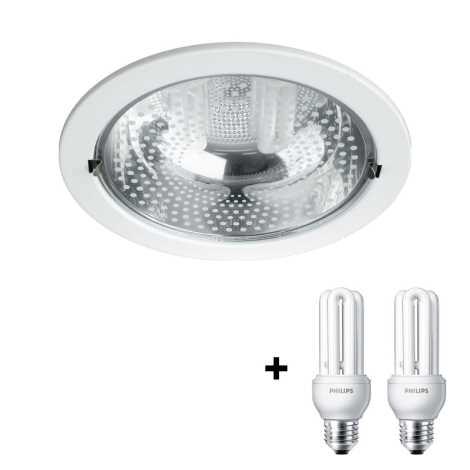 Philips Massive 59799/31/10 - RONDA beépíthető lámpa 2xE27/14W fehér