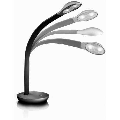 Philips Massive 66706/30/10 - NATHAN LED-es asztali lámpa 2xLED/2,5W fekete