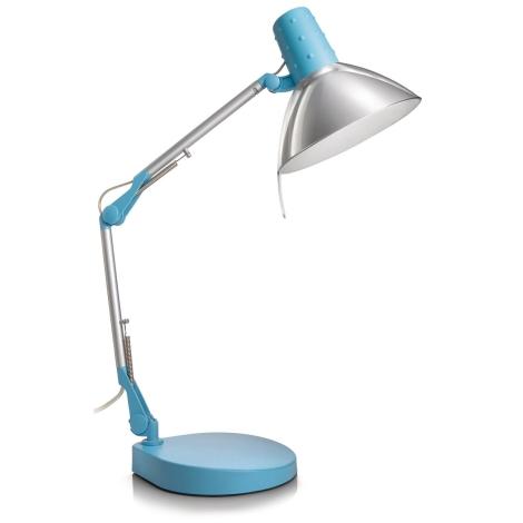Philips Massive 67200/35/10 - STUDIO asztali lámpa 1xE14/40W kék