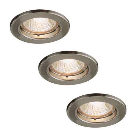 Philips Massive 72813/23/17 - KÉSZLET 3x Fürdőszobai mennyezeti lámpa LEONIS 1xGU10/50W/230V