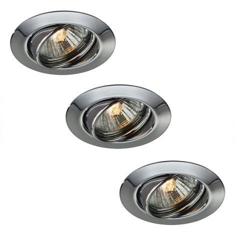 Philips Massive LED 59333/11/10 - KÉSZLET 3x LED fürdőszobai süllyesztett lámpa OPAL 3xLED/4W
