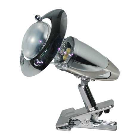 PREZENT 12029 - ZEUS CLIP csipeszes lámpa 1xE14/R50/40W matt króm
