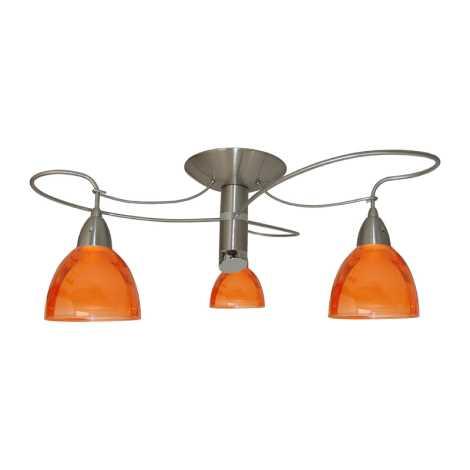 PREZENT 12039 - CARRAT csillár 3xE14/40W narancs