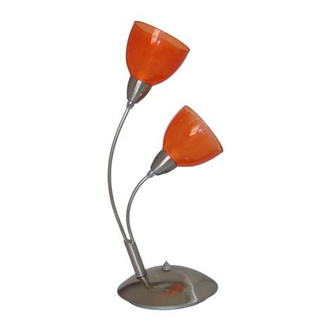 PREZENT 12042 - CARRAT asztali lámpa 2xE14/40W narancs