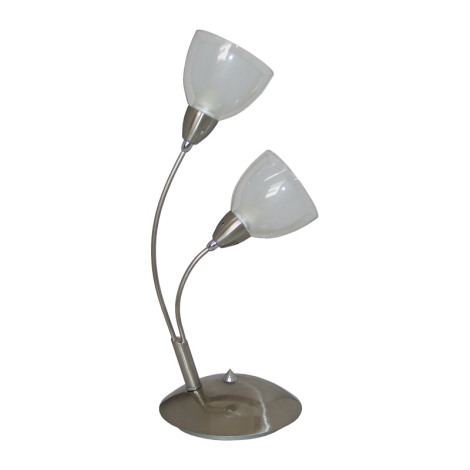 PREZENT 12049 - CARRAT asztali lámpa 2xE14/40W fehér