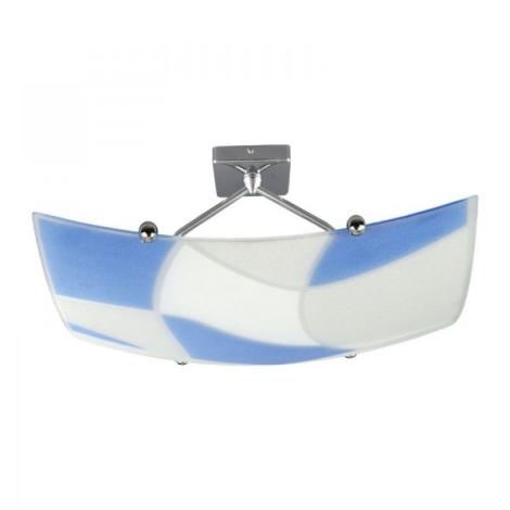 PREZENT 1337 - ASPIS csillár 2xE27/100W  fehér/kék
