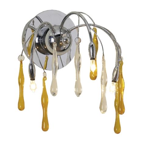 PREZENT 14015 - SALYX fali lámpa 3xG4/20W méz színű üveg