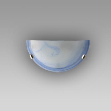 PREZENT 1404 - ALABASTR fali lámpa 1xE27/60W  kék