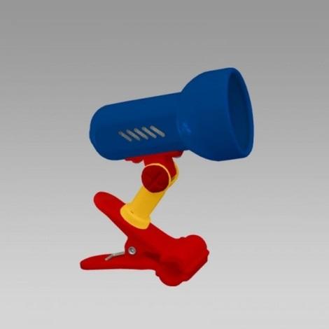 PREZENT 20006 - CENTRO csipeszes lámpa 1xE14/R50/40W több színű