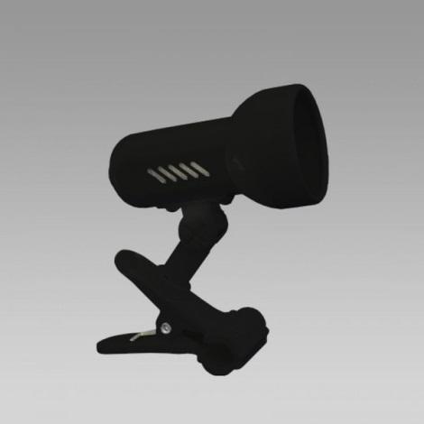 PREZENT 20020 - CENTRO csipeszes lámpa 1xE14/R50/40W fekete