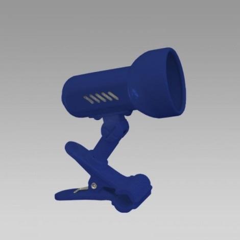 PREZENT 20023 - CENTRO csipeszes lámpa 1xE14/R50/40W kék