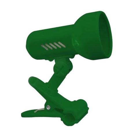PREZENT 20028 - CENTRO csipeszes lámpa 1xE14/R50/40W zöld