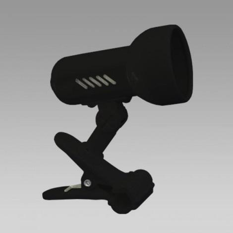 PREZENT 20031 - METRO csipeszes lámpa 1xE27/R50/60W fekete